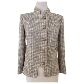 Chanel-Chanel Beige Tweed Jacket-Beige