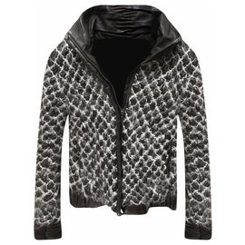 Chanel-9,2K$ Black Leather Jacket-Black