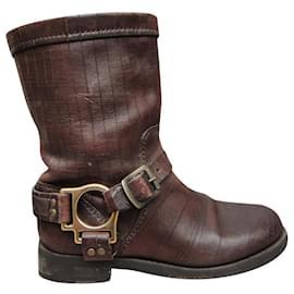 Dolce & Gabbana-Dolce & Gabanna p boots 36-Brown