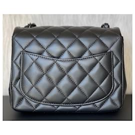 Chanel-Classic Quilted So Black Lambskin Square Mini Flap-Black