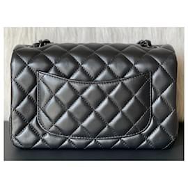 Chanel-Classic Quilted So Black Lambskin Rectangular Mini Flap-Black