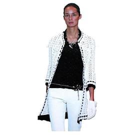 Chanel-Crochet Knit Jacket-Cream