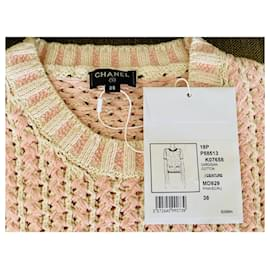 Chanel-Chanel top-Pink,White