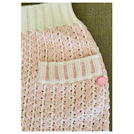 Chanel-Chanel skirt-Pink,White