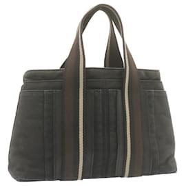 Hermès-HERMES Toroca Horizontal PM Sac à main Toile Noir Auth yt386-Noir