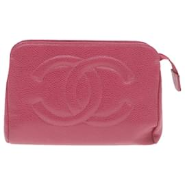 Chanel-CHANEL Pouch Coin Purse Patent Leather Pink Black Auth gt418-Black,Pink