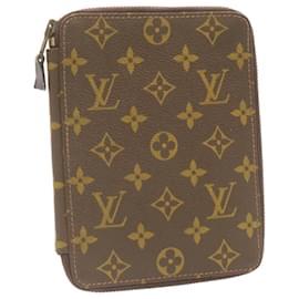 Louis Vuitton-Étui à passeport monogramme LOUIS VUITTON Vintage LV Auth 23841-Autre