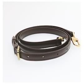 """Louis Vuitton-Bandoulière réglable en cuir LOUIS VUITTON 40.2""""""""-47.2"""""""" Brown Auth en tant que137-Marron"""