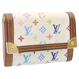 Louis Vuitton-LOUIS VUITTON Monogram Multicolor Porte Monnaie Plat Porte Monnaie M92657 LV yk1799-Blanc