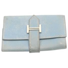 Hermès-HERMES Étui à clés en cuir bleu clair Auth 22449-Bleu clair