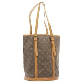 Louis Vuitton-LOUIS VUITTON Monogram Bucket GM Shoulder Bag M42236 LV Auth 23459-Other