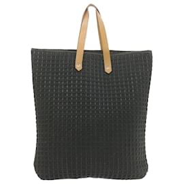 Hermès-HERMES Tote Bag Coton Cuir Auth yk1458-Noir