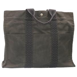 Hermès-HERMES Fourre Tout Her Line Hand Bag Black Gray Red 4Set Cotton Auth ar4200-Black,Red,Grey