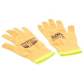 Louis Vuitton-LOUIS VUITTON Gon RGB Orange Yellow Polyester Work Gloves MP2371 LV Auth 23082-Orange