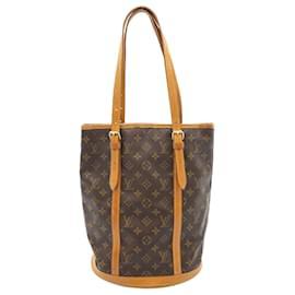 Louis Vuitton-LOUIS VUITTON Monogram Bucket GM Shoulder Bag M42236 LV Auth ar4409-Other