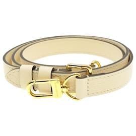 Louis Vuitton-Bandoulière ajustable en cuir LOUIS VUITTON 103-113cm Blanc LV Auth 14528-Blanc