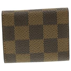 Louis Vuitton-LOUIS VUITTON Damier Ebene Cuff Case and Cuffs LV Auth 16491-Damier ebène