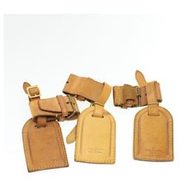 Louis Vuitton-LOUIS VUITTON Porte-nom en cuir Powanie 10Set Beige LV Auth 16585-Beige