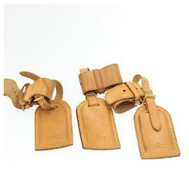 Louis Vuitton-LOUIS VUITTON Porte-nom en cuir Powanie 10Set Beige LV Auth 16587-Beige
