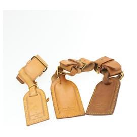 Louis Vuitton-LOUIS VUITTON Porte-nom en cuir Powanie 10Set Beige LV Auth 16589-Beige