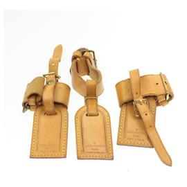 Louis Vuitton-LOUIS VUITTON Porte-nom en cuir Powanie 10Set Beige LV Auth 16604-Beige