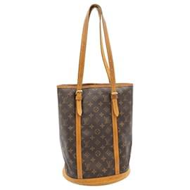 Louis Vuitton-LOUIS VUITTON Monogram Bucket GM Shoulder Bag M42236 LV Auth 23655-Other