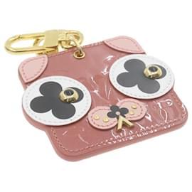 Louis Vuitton-LOUIS VUITTON Vernis Porte Cles Animal Face Charm Pink M68217 LV Auth go081-Other