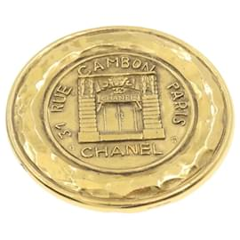 Chanel-Chanel 31 Rue Cambon Brooch Gold Tone Auth go082-Golden
