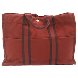 Hermès-Sac à main HERMES PRADA 2Définir Rouge Vert Auth im126-Rouge,Vert