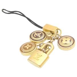Louis Vuitton-LOUIS VUITTON Bijoux Telephonne Pastilles Charm M65388 Brown LV Auth 22854-Golden
