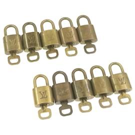 Louis Vuitton-cadenas Louis Vuitton 10set Gold Tone LV Auth gt519-Doré