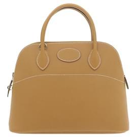 Hermès-Hermes Bolide 31 2Way Hand Shoulder Bag Beige Leather Auth 21851-Beige