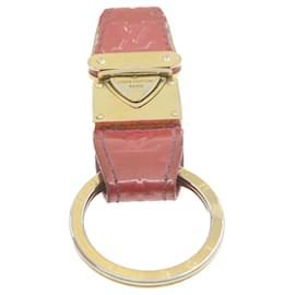 Louis Vuitton-LOUIS VUITTON Monogram Vernis Charm Pink Gold Tone LV Auth 20931-Pink,Golden