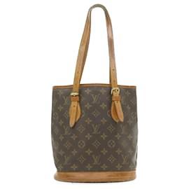 Louis Vuitton-LOUIS VUITTON Monogram Bucket PM Shoulder Bag M42238 LV Auth **Sticky gt640-Other