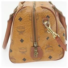 MCM-MCM 2Way Shoulder Hand Bag Brown PVC Leather Auth ar3892-Brown