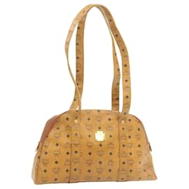 MCM-MCM PVC Leather Shoulder Bag Brown Auth 21909-Brown