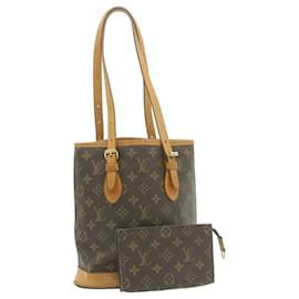 Louis Vuitton-LOUIS VUITTON Monogram Bucket PM Shoulder Bag M42238 **Powder LV Auth ar3928-Other