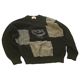 MCM-MCM Sweater Black Wool Auth ar3949-Black
