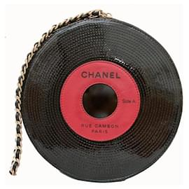 Chanel-2004 Runway Record Motif Vinyl LP Disc Chain Clutch-Other