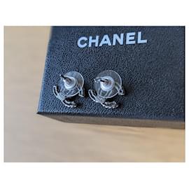 Chanel-Chanel CC B13 B SHW crystal earrings-Silver hardware