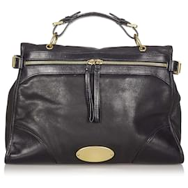 Mulberry-Mulberry Black Taylor Leather Satchel-Black