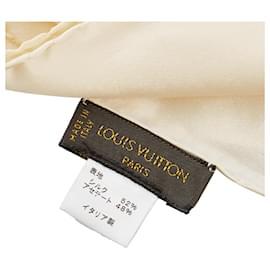 Louis Vuitton-Louis Vuitton Brown Monogram Silk Scarf-Brown,Beige