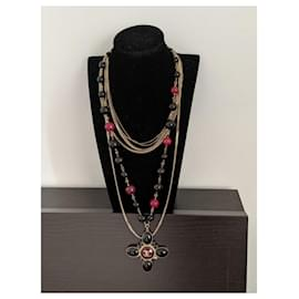Chanel-Gripoix 07A Multi strand bead chain necklace-Multiple colors