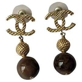 Chanel-CHANEL B16 A Pearl Drop Dangling Earrings-Multiple colors