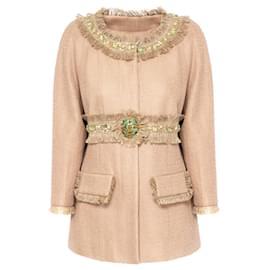 Chanel-7,8K$ Jewel  Embellished Jacket-Beige