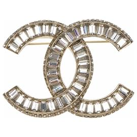 Chanel-CC Pin Brooch-Golden