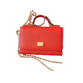Dolce & Gabbana-Miss Sicily Wallet on Chain-Red