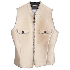 Chanel-Rare LOGO Vest-Cream