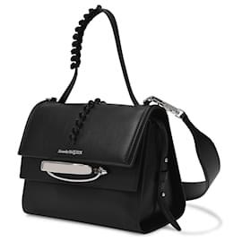 Alexander Mcqueen-Story Handbag in Black Smooth Leather-Black
