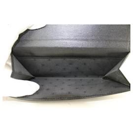 Chanel-Black calf leather Button Line CC Logo Long Flap Wallet 16CC719-Other